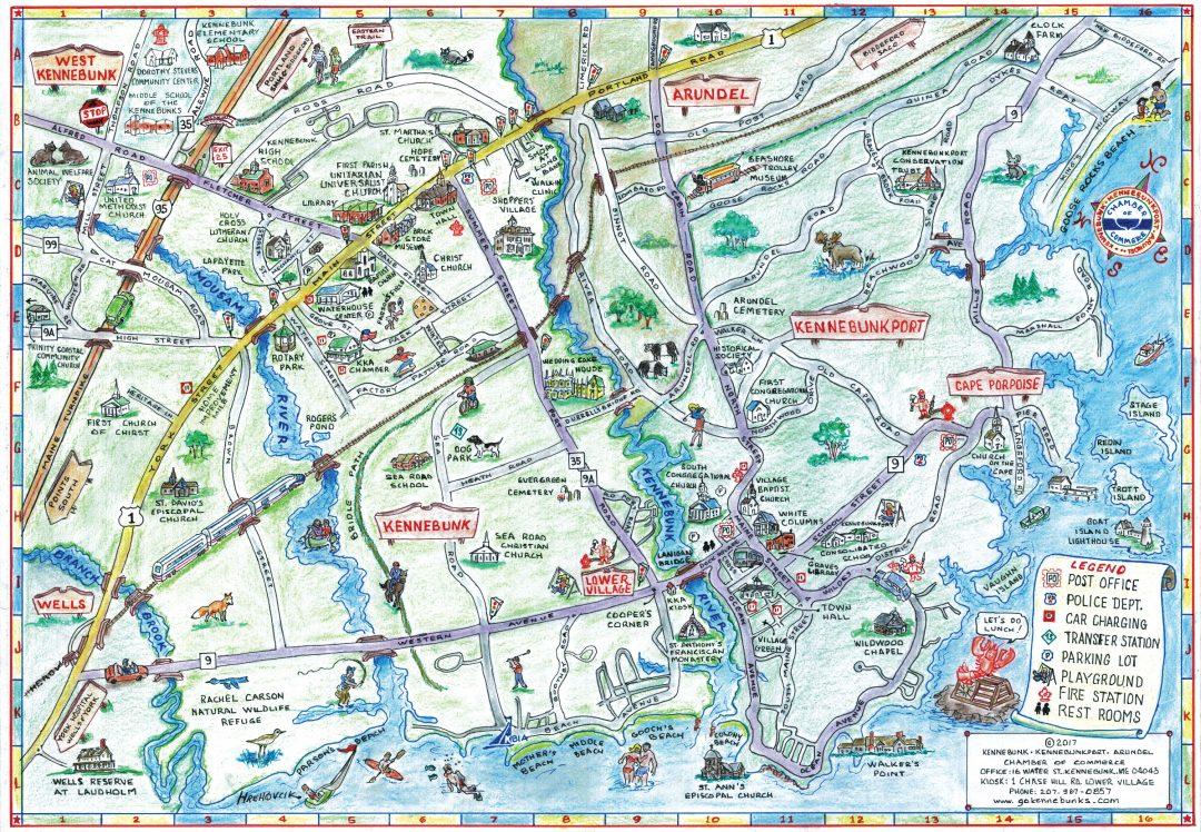 Kennebunk, Kennebunkport, Arundel Chamber of Commerce Map