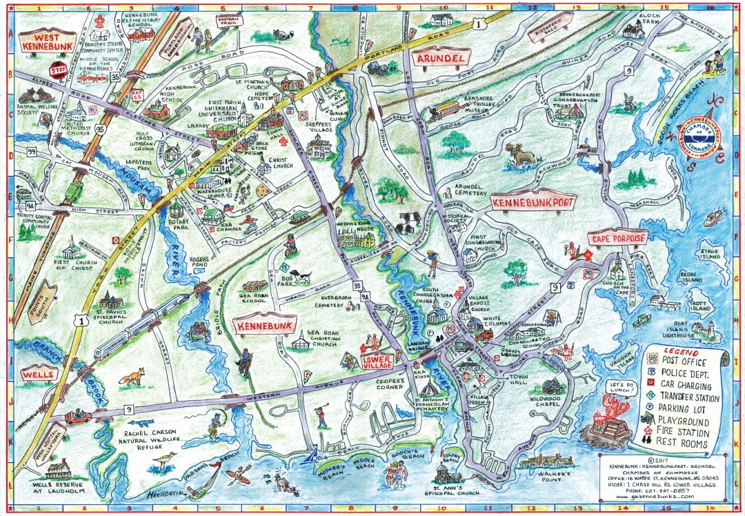 Kennebunk, Kennebunkport, Arundel Chamber of Commerce Map
