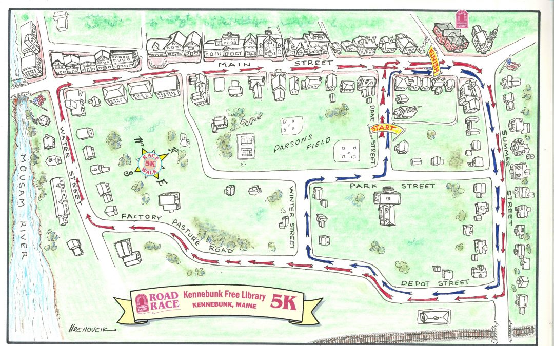 Library 5K Race Map