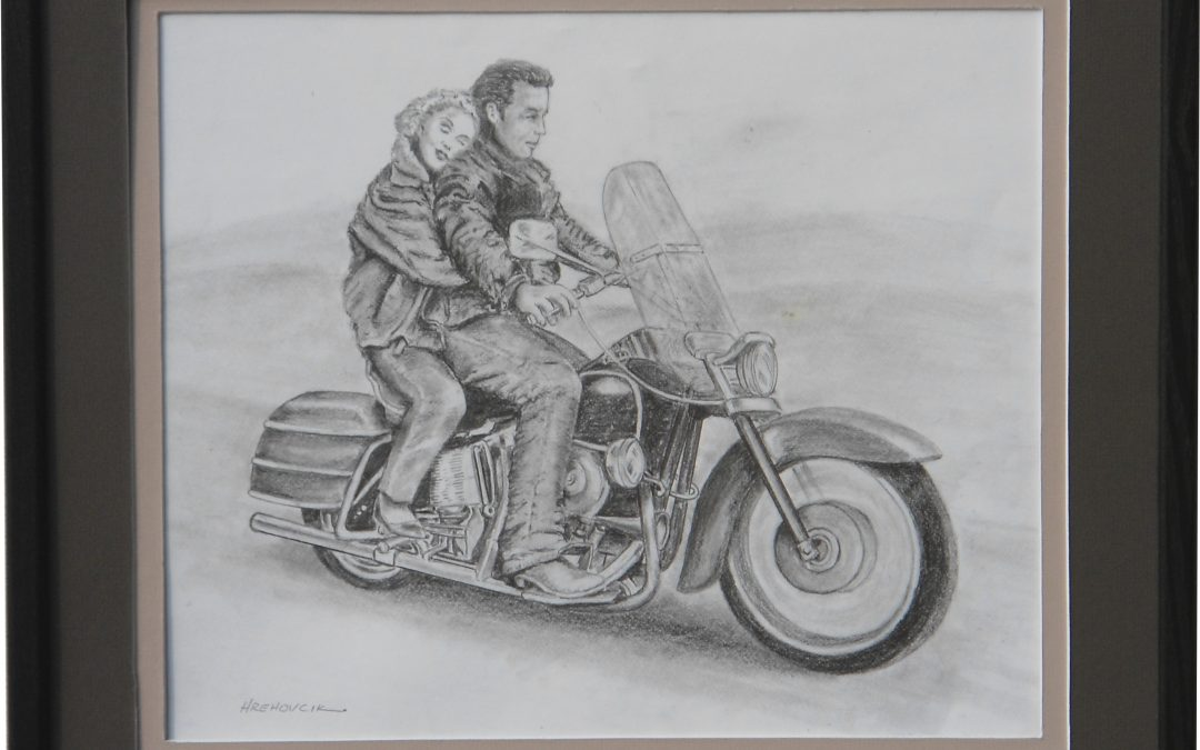 Marilyn and James on Bike