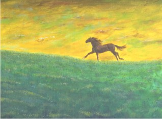 Running With The Clouds Horse